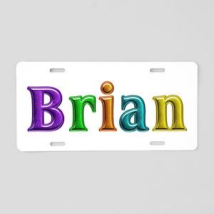 Brian Shiny Colors Aluminum License Plate