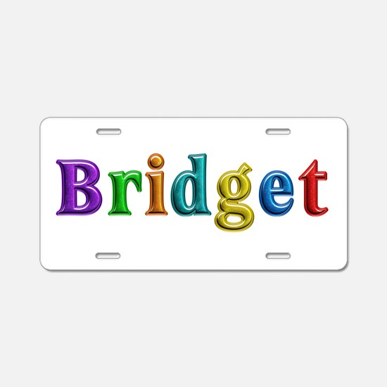 Bridget Shiny Colors Aluminum License Plate