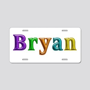 Bryan Shiny Colors Aluminum License Plate