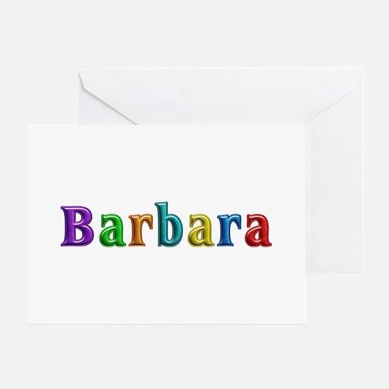 Barbara Shiny Colors Greeting Card