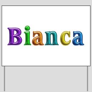 Bianca Shiny Colors Yard Sign