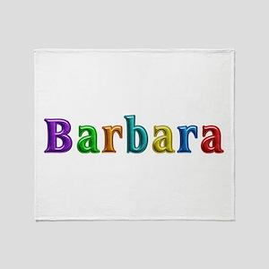 Barbara Shiny Colors Throw Blanket