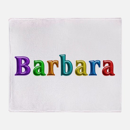 Barbara Shiny Colors Throw Blanket