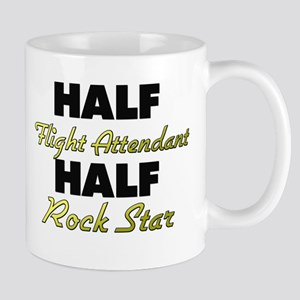 Half Flight Attendant Half Rock Star Mugs