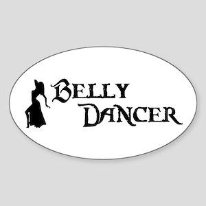 Belly Dancer Pose Oval Sticker