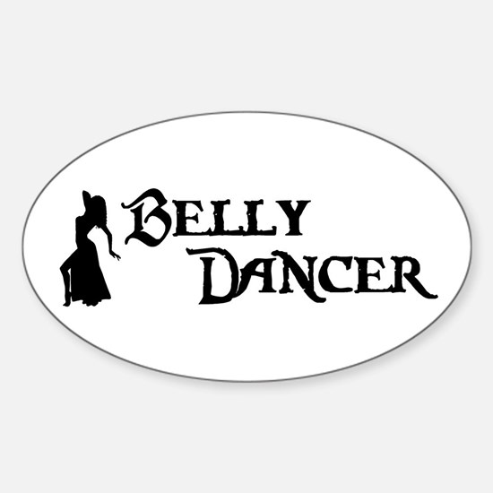 Belly Dancer Pose Oval Decal