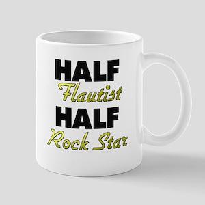 Half Flautist Half Rock Star Mugs