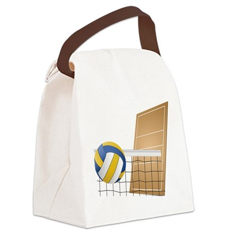 Volleyball - Sports Canvas Lunch Bag