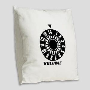 Max Volume - Music Burlap Throw Pillow