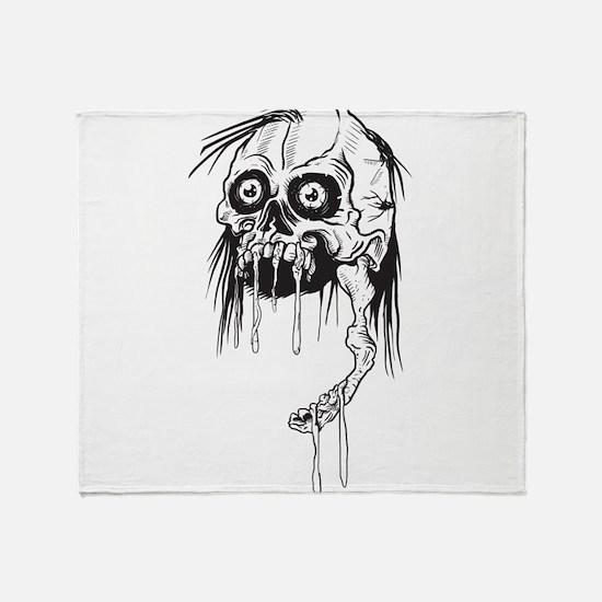 Zombie - Horror Throw Blanket
