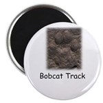 Bobcat Track Photo Magnet