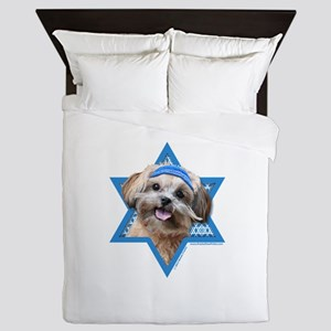 Hanukkah Star of David - ShihPoo Queen Duvet
