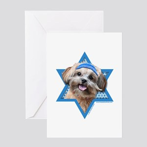 Hanukkah Star of David - ShihPoo Greeting Card