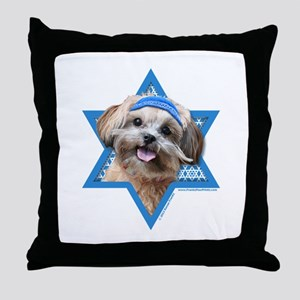 Hanukkah Star of David - ShihPoo Throw Pillow