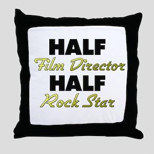Half Film Director Half Rock Star Throw Pillow