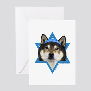 Hanukkah Star of David - Shiba Inu Greeting Card