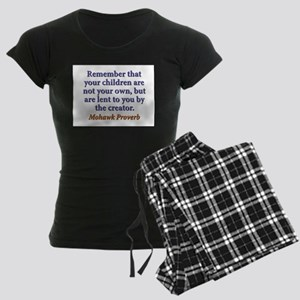 Remember That Your Children Women's Dark Pajamas