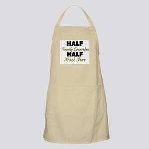Half Family Counselor Half Rock Star Apron