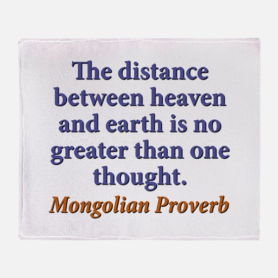 The Distance Between Heaven and Earth Throw Blanke
