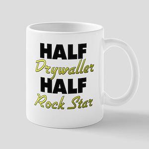 Half Drywaller Half Rock Star Mugs