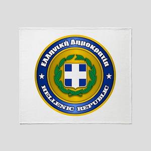 Greek Medallion Throw Blanket