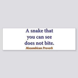 A Snake You Can See Sticker (Bumper)