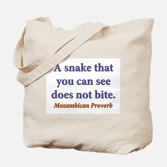 A Snake You Can See Tote Bag