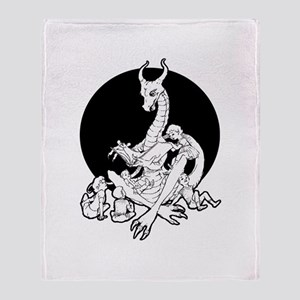 Dragon Storyteller Throw Blanket