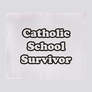 Catholic School Survivor Throw Blanket