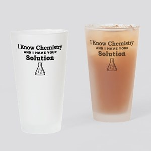 Chemistry Solution Drinking Glass