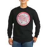 Inspirational Flying Pig Long Sleeve Dark T-Shirt