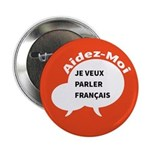 """Diskuto Transparent 2.25"""" Button (100 pack)"""