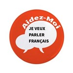 """Diskuto French 3.5"""" Button (100 pack)"""