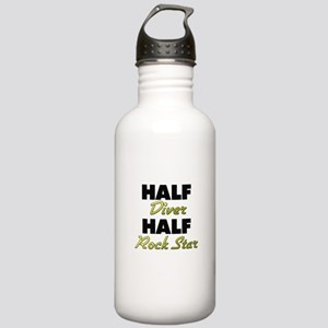 Half Diver Half Rock Star Water Bottle