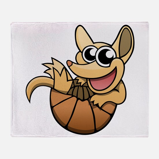 Cartoon Armadillo Throw Blanket