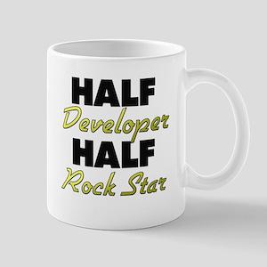 Half Developer Half Rock Star Mugs