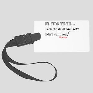 Devil Himself Luggage Tag