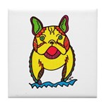 Funky Frenchie Tile Coaster