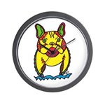 Funky Frenchie Wall Clock