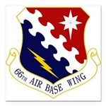 66th ABW Square Car Magnet 3