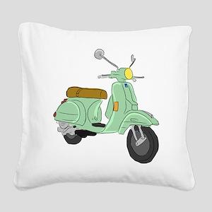 Vespa PX Sketch Square Canvas Pillow