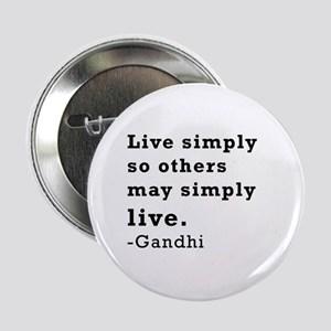 "Live simply 2.25"" Button"