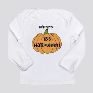 Custom 1st Halloween Long Sleeve Infant T-Shirt