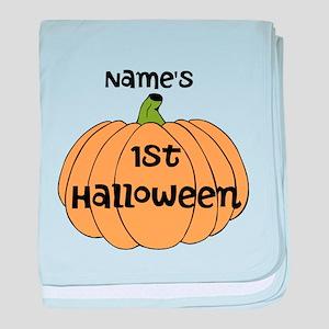 Custom 1st Halloween baby blanket