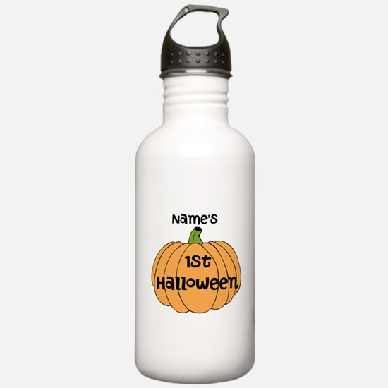 Custom 1st Halloween Water Bottle