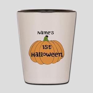 Custom 1st Halloween Shot Glass
