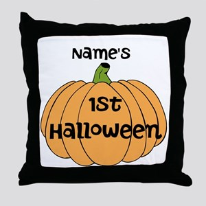 Custom 1st Halloween Throw Pillow