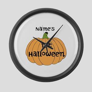 Custom 1st Halloween Large Wall Clock