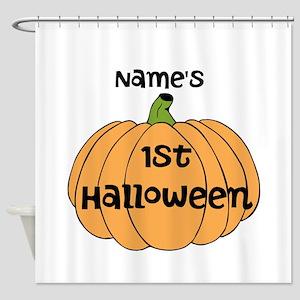 Custom 1st Halloween Shower Curtain
