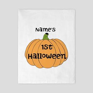 Custom 1st Halloween Twin Duvet